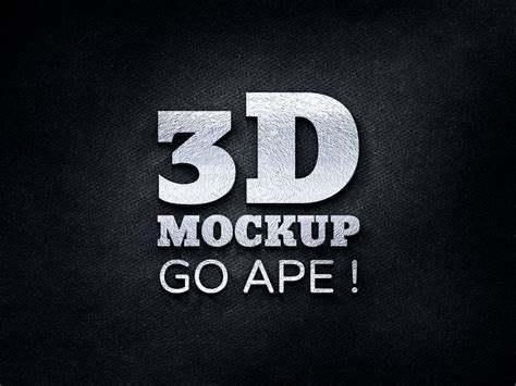 3d Logo Text Mockup Smart Object Psd 3d Logo Free Psd Mockup Apemockups