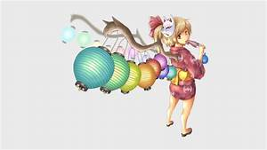 Anime, Anime, Girls, Yukata, Fox, Mask, Touhou, Flandre, Scarlet, Wallpapers, Hd, Desktop, And, Mobile