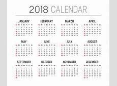Het Vectormalplaatje Van De Jaar 2018 Kalender Vector