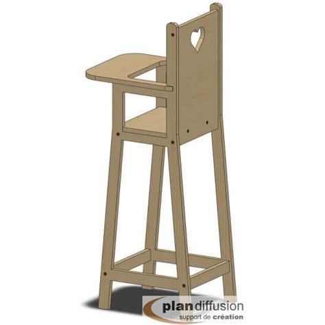 plan de chaise en bois comment fabriquer une chaise haute pour poupéée