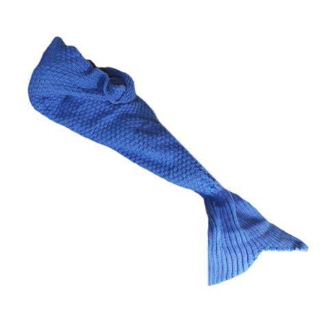 Meerjungfrau Decke  Flauschige Kuscheldecke Für Kinder Blau