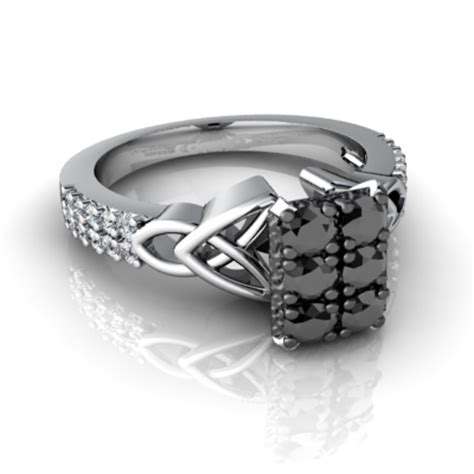 cool wedding rings with black and white diamonds for sale online