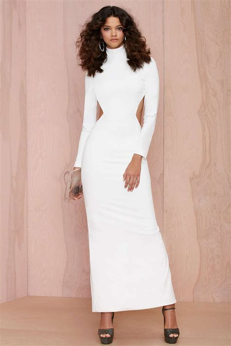 Lyst  Nasty Gal Solace London Bougie Cutout Dress White