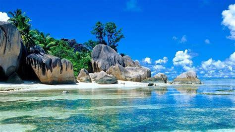 summer background  background beach blue sky rocks