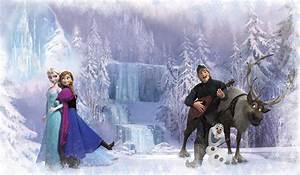 Disney's Frozen Chair Rail Prepasted Mural