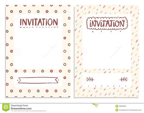 Cute Wedding Decorations by Invitations Templates Stock Illustration Image 38830829