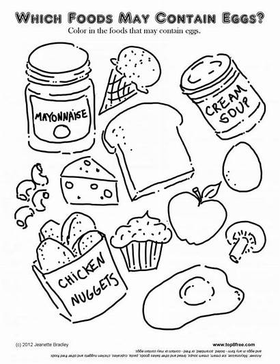 Coloring Sheets Foods Chicken