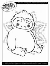 Coloring Pages Yeti Snow Fun sketch template