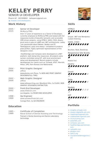 Ui Entwickler Resumeproben  Visualcv Lebenslauf Proben