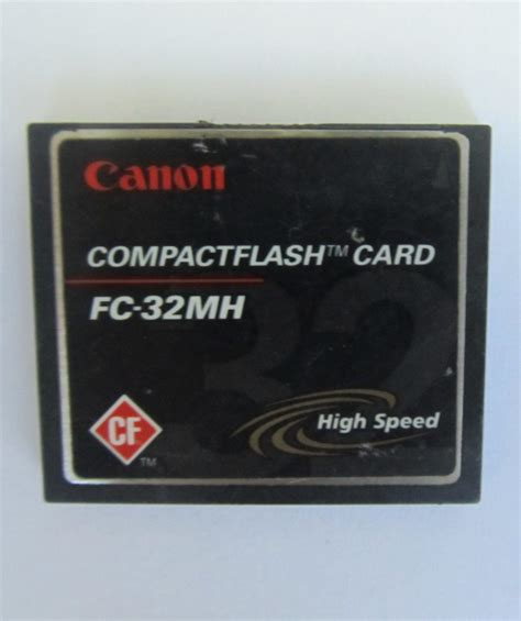 Canon High Speed Fc32mh Compactflash Compact Flash Memory Card 32mb  Memory Cards