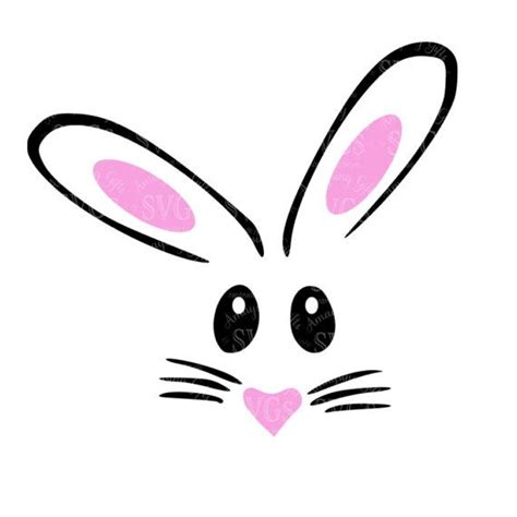I recommend the free inkscape software for. SVG - Easter Bunny SVG - Rabbit face svg - Bunny tshirt ...