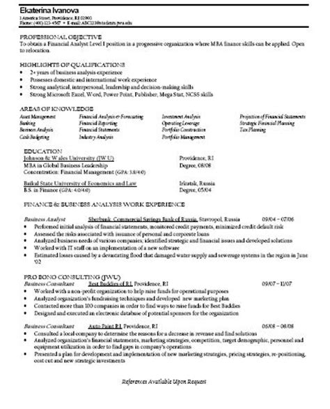 mba finance student resume 2017 2018 studychacha