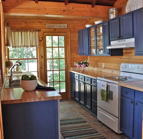 blue cottage kitchen cabinets painting ideas lake house