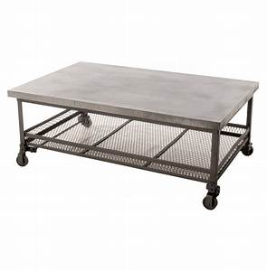 Urban Mercantile Galvanized Steel Industrial Coffee Table