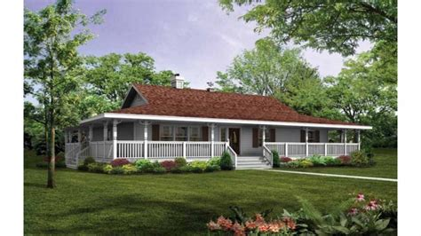 story house plans  story house plans  wrap  porch single level farmhouse