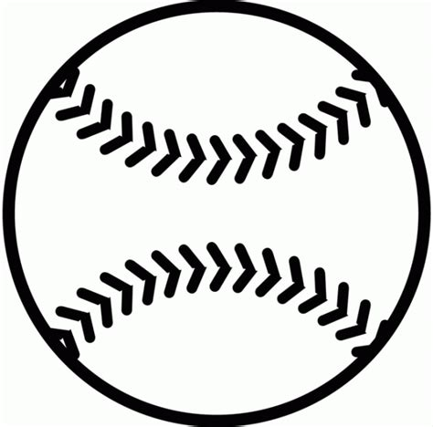 baseball template baseball free printable coloring pages