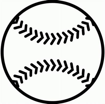 Baseball Printable Clipart Coloring Pages Silhouette Svg