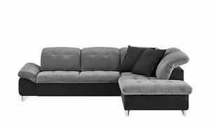 Ecksofa Mit Verstellbarer Sitztiefe : ecksofa inkl kopfteilverstellung zweifarbig schwarz grau ~ Indierocktalk.com Haus und Dekorationen