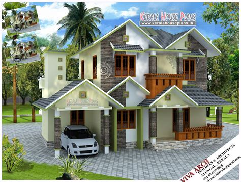 homes designs kerala style slope roof home design kerala house