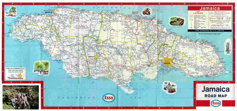 road maps  jamaica    parishes jamaicajamaica