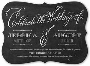 chalked union 5x7 wedding invitations shutterfly With wedding invitation by shutterfly