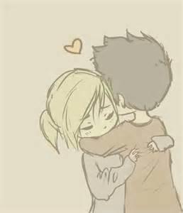 Cute Anime Couple Drawing Love