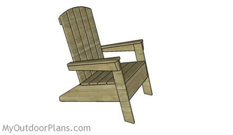 modern adirondack chair plans myoutdoorplans free