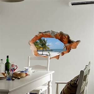 D beach wall decals inch removable sea art