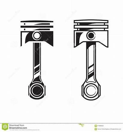 Piston Engine Vector Illustration Isolated Clip Clipart