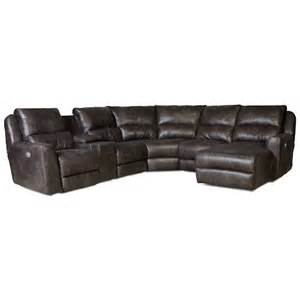 southern motion producer power reclining sectional sofa with 5 seats dunk bright furniture