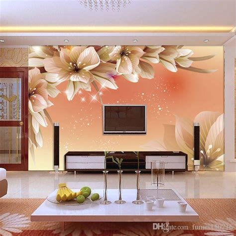 photo wallpaper beautiful dream lily flower tv wall