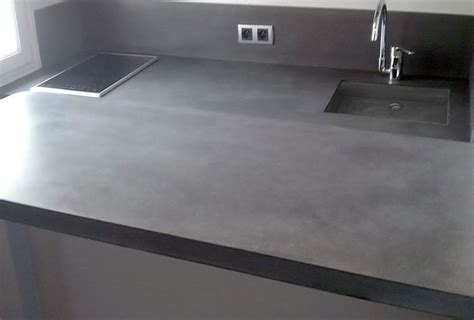 beton ciré pour cuisine beton cire sur carrelage mural cuisine maison design