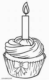 Cupcake Coloring Pages Birthday Muffin Cupcakes Printable Drawing Happy Template Cool2bkids Kleurplaat Colouring Cakes Kitty Drawings Blueberry раскраски рисунки раскрашивания sketch template