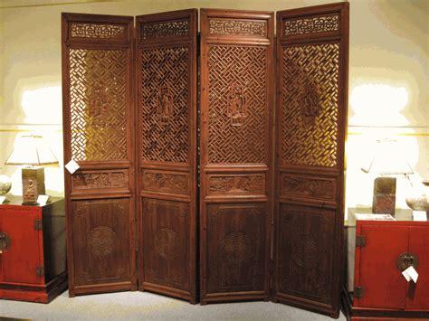 antique asian decor set  carved wooden panels