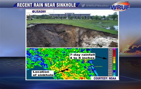 sinkholes alachua county fl recent heavy likely cause of sinkhole in alachua