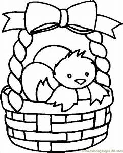 Easter Basket Coloring Pages - Coloring Home