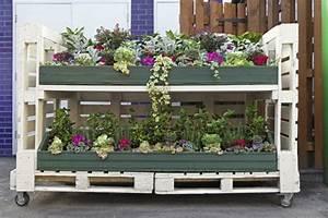 Jardiniere Sur Roulette : jardini re en palette de bois pour jardin vertical ou horizontal ~ Farleysfitness.com Idées de Décoration