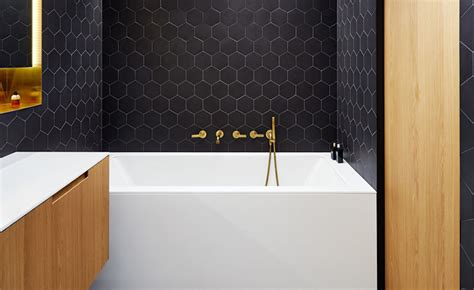 Bathroom Ideas   Combine Black Brass White