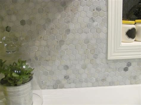 marble hex tile kitchen backsplash hton carrara