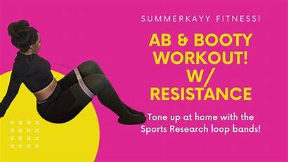 Band Workout Resistance Booty Workouts Ab Weight
