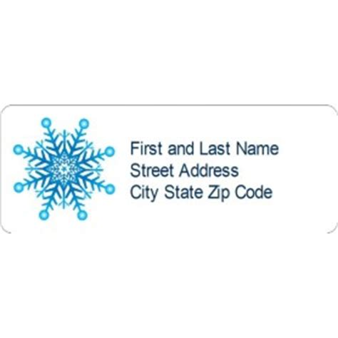 Avery Template 8860 by Templates Snowflake Address Labels 30 Per Sheet Avery