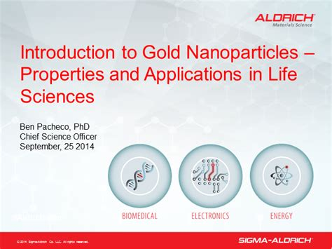 introduction gold nanoparticles properties applications