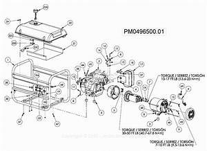 Powermate Formerly Coleman Pm0496500 01 Parts Diagram For Generator Parts