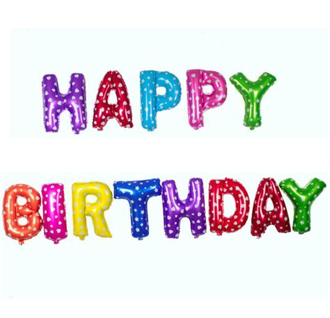 happy birthday letters happy birthday letter foil balloon sk collection