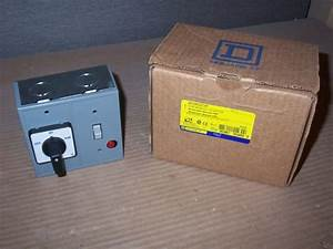 New Square D 2510fg71p Fhp Manual Starter Switch Auto 600v