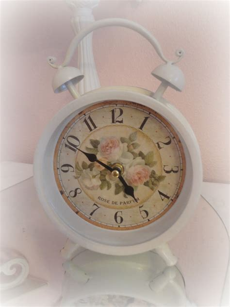 shabby chic alarm clock not so shabby shabby chic my shabby chic birthday gifts