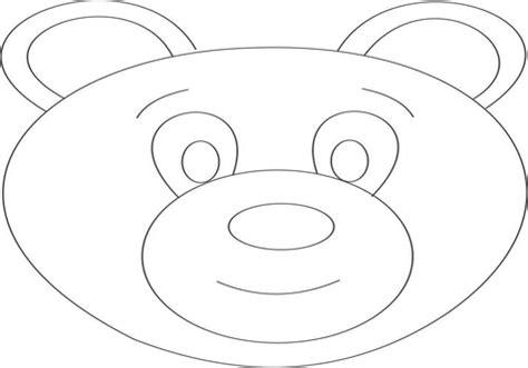 Polar Bear Face Template - Costumepartyrun