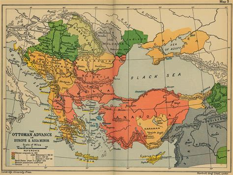 Ottoman Europe by Map Of The Ottoman Conquests 1451 1566