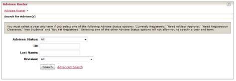 advisee roster faculty registrar academics rosemont college