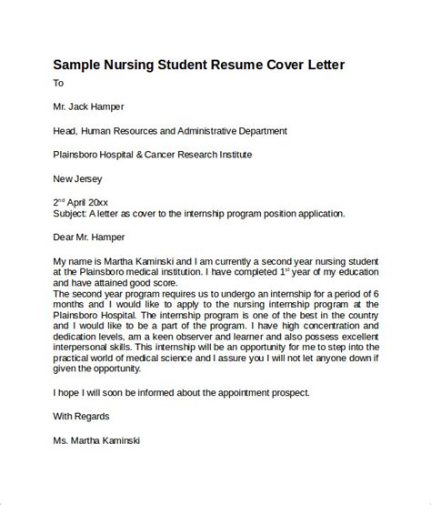 rn resume cover letter examples sample nursing cover letter template 8 download free